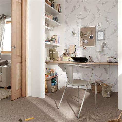 papier peint bureau bureau gain de place maison