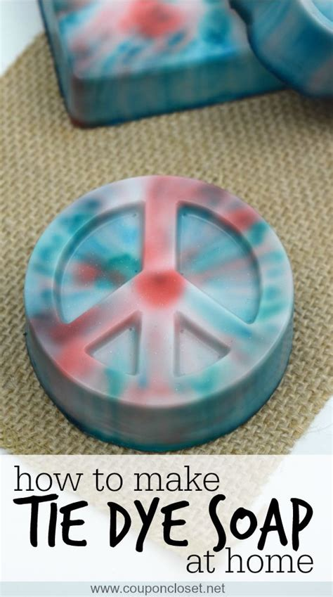 how to make soap at home tie dye soap coupon closet