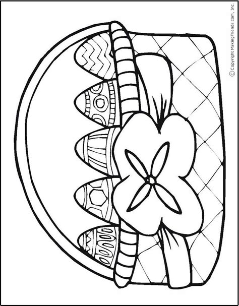coloring page of an easter basket easter basket coloring page april showers bring may