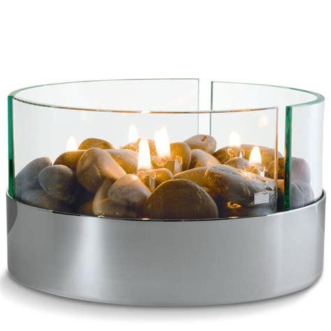 feuerschale mit glas tischkamin rund glas steine 216 20 cm philippi burn