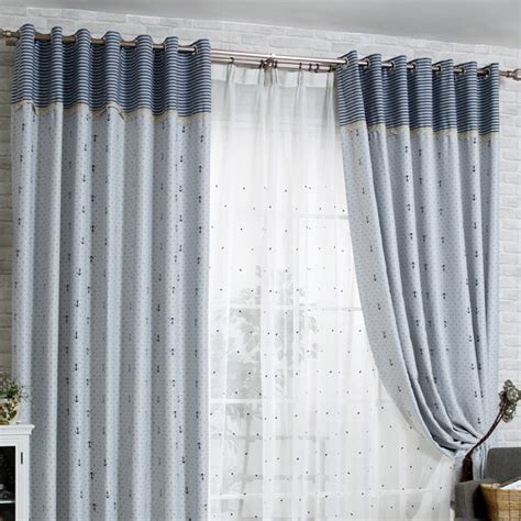 thick curtains thick blackout gray cotton nautical curtains