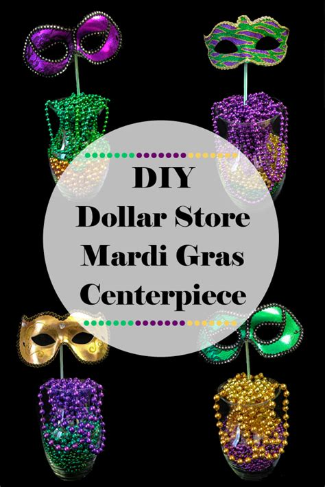 diy dollar store mardi gras centerpiece pure costumes blog