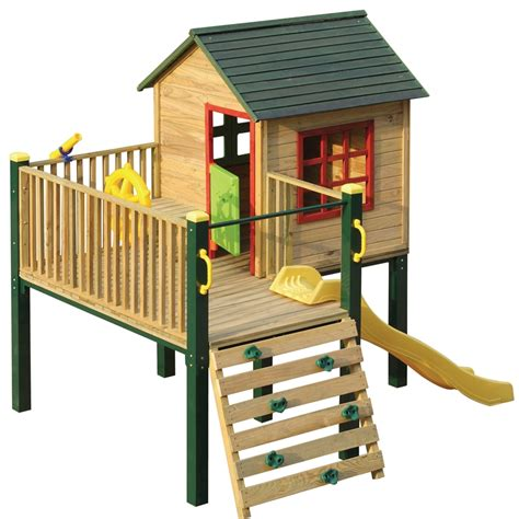 Timber Cubby House Plans Swing Slide Climb Shangri La Multiplay Timber Playhouse Bunnings Warehouse Aussie 1 299