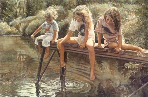 child nudez mesmerizing watercolor art by steve hanks amusing planet