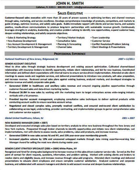 sales executive resume format pdf 8 sle senior executive resumes sle templates