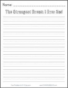 the strangest dream i ever had free printable k 3