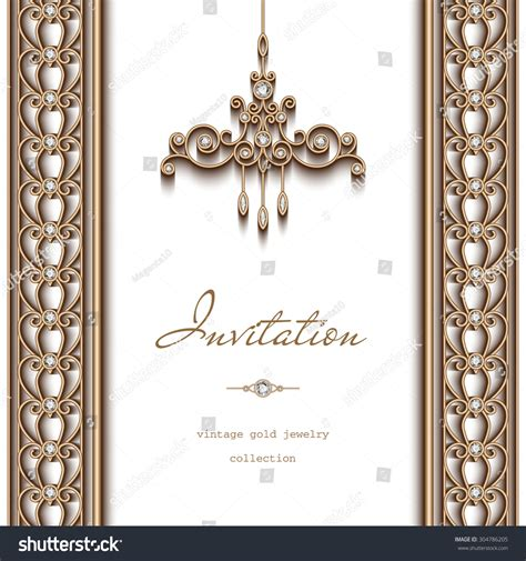 ornate vintage template background vector 04 over vintage gold vector frame invitation template stock vector