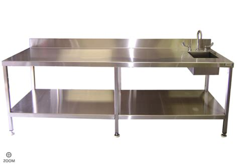 Industrial Kitchen Table Stainless Steel Kitchen Sinks Stainless Steel Industrial Kitchen Table With Sink