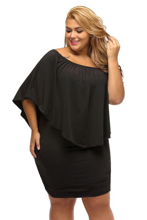 G Md Tosca Polos Mini Dress Xl gosopin shoulder dresses plus size dressing layered black mini dress vestido