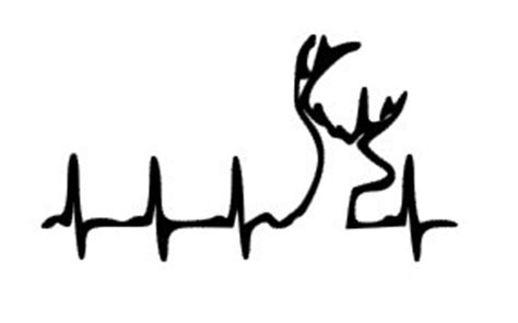 heartbeat tattoo with deer items similar to country deer deer heartbeat hunting car