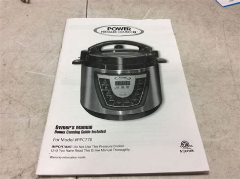 power pressure cooker xl cookbook complete ppc xl guide with 91 simple and yum yum pressure cooker xl recipes for your family everyday cooking books power pressure cooker xl ppc770 owners manual