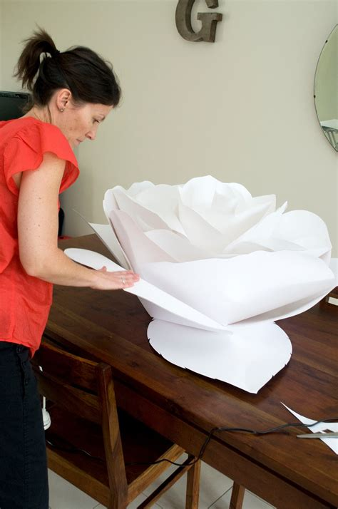 How To Make Big Flowers Out Of Paper - grace designs paper flowers