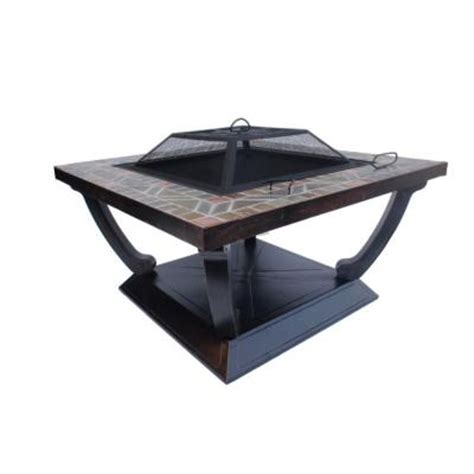 36 in square slate top pit fp 11033 the home depot