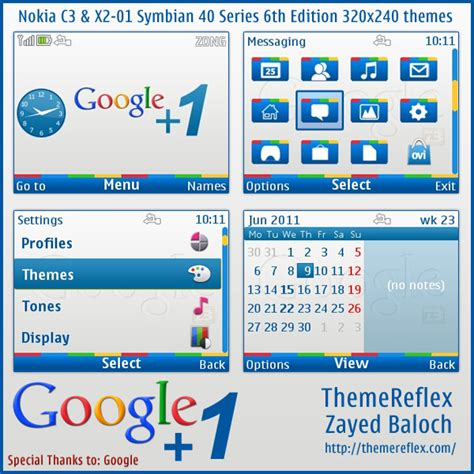 themes nokia nth 320x240 google 1 theme for nokia c3 x2 01 updated themereflex