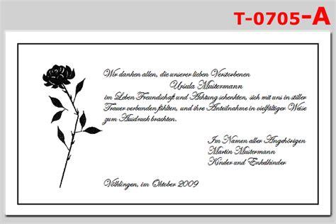 Trauerkarte Schreiben Muster Druckerei Der Eltz T 0705