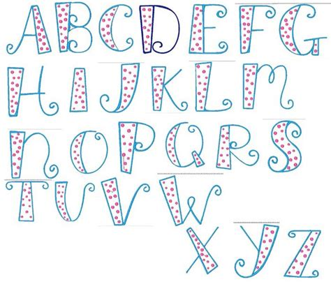Letter Font Sewn 4 You Designs Fonts And Alphabets