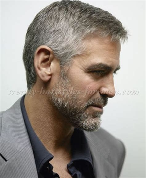 hairstyles for men over 50 with gray hair hairstyles for men over 50 george clooney side part