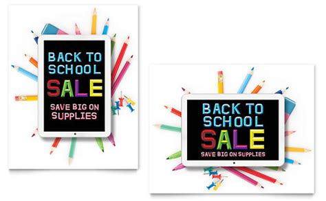 back to school supplies sale back to school supplies sale poster template word