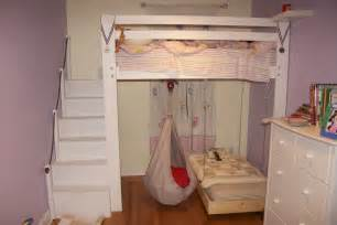 Bunk Bed With Swing Space Loft Bed Bunk Bed Build With Hanging Toddler Bed And Swing Make Room For The