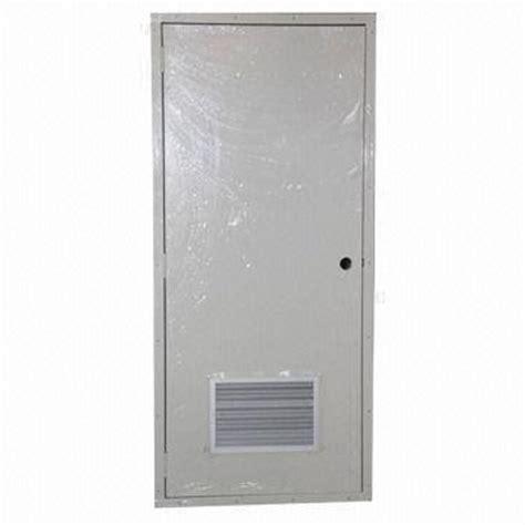 Steel Clad Exterior Doors Modular Exterior Doors Steel Door Frames Electrostatic Powder Coating Flat Surface