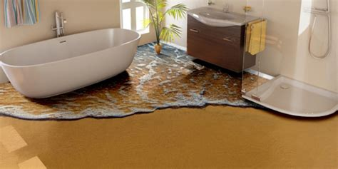 bathroom floor design ideas bringing the outdoors inside with epoxy floors