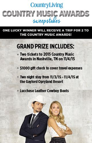 country living sweepstakes country living s country awards sweepstakes