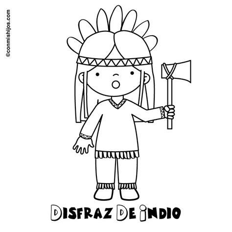 Dibujos Con La I Conmihijos Com Actividades Colegio Indios Para Colorear
