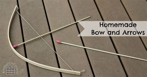 How To Make Handmade Bows - bow and arrows researchparent