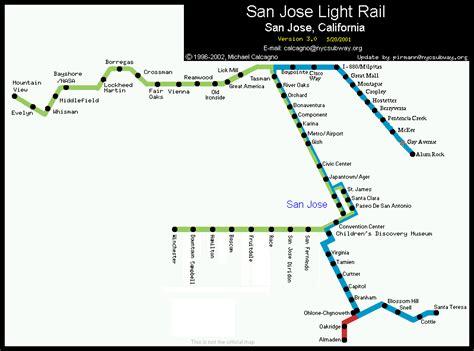 san jose lights map world nycsubway org san jose california