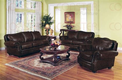 Leather Sofa Set For Living Room Willson Bonded Leather Living Room Set Sofas