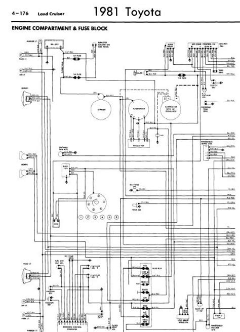 toyota land cruiser 1981 wiring diagrams manual