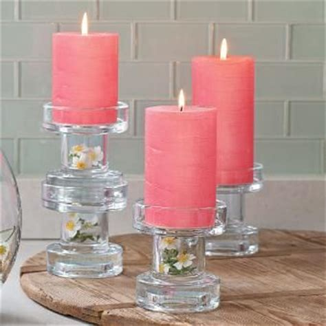 clearly creative reversible multi candle holder pair versatile modern glass holder does it