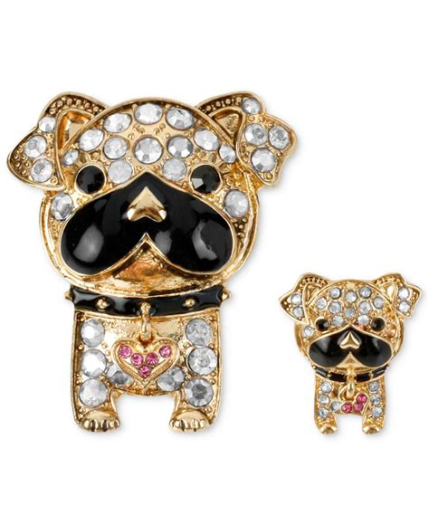 Pinset 1 Set lyst betsey johnson gold tone accent bull pin set in metallic