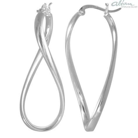 Silber Ohrringe Polieren by Gebogen Silber Creolen Poliert Altansilver De