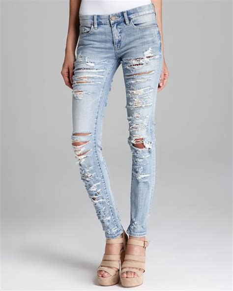ripped denim light denim ripped bbg clothing