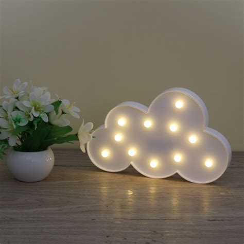 cloud 9 night light 3d marquee cloud night l with 11led battery operated