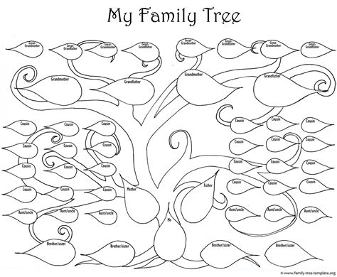 tree coloring page pdf kids printable family tree az coloring pages