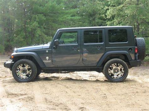 Blue 4 Door Jeep Sell Used Jeep Wrangler Punisher 4 Door Loaded Slate Blue