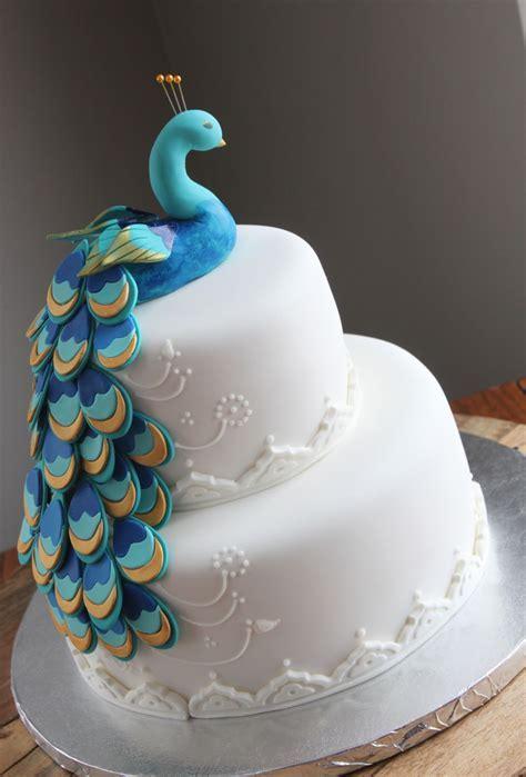 Peacock Bridal Shower Cake   CakeCentral.com