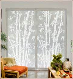 privacy for sliding glass doors big bamboo etched glass privacy window film