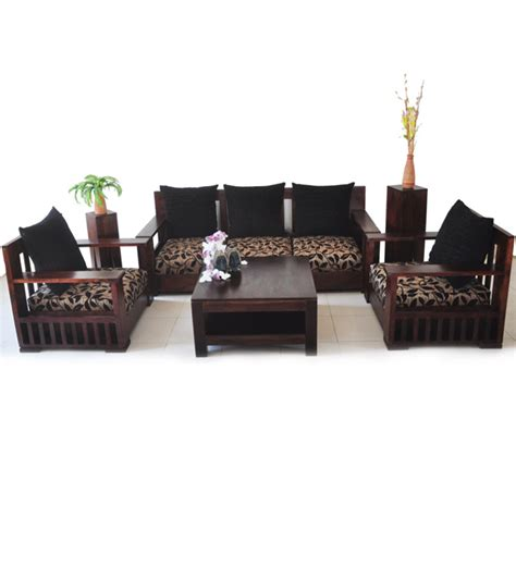 comfortable sofa set 3 1 1 seaters by wood dekor by wood