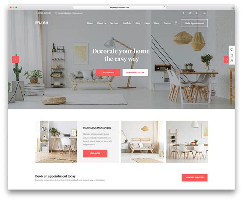 home interior design websites 40 interior design wordpress themes that will boost your