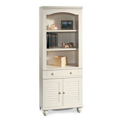 White Bookshelf Sauder Furniture Bookcase Slideshow