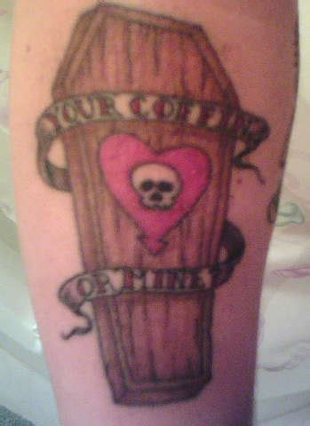 alkaline trio tattoo coffin tattoos and designs page 53
