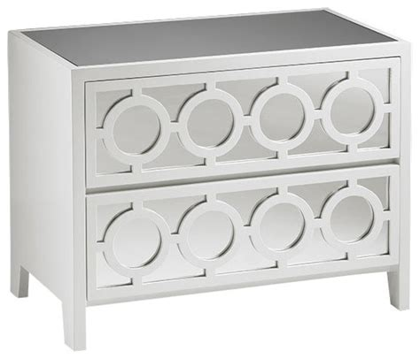 White And Mirrored Nightstand White Mirrored Cabinet Traditional Nightstands And Bedside Tables By Inviting Home Inc