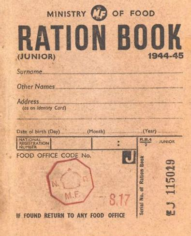 rationing book template the 1940 s experiment weight loss losing 100 lb