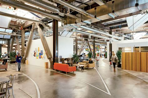 Creative Office Ideas by Facebook Building 20 Work Hive