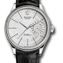 Rolex Cellini Silver White Leather rolex cellini all prices for rolex cellini watches on