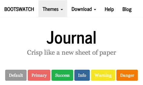 themes like bootstrap journal theme at bootstrapzero