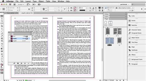 tutorial indesign book setup from word to adobe indesign book design workflow tuts